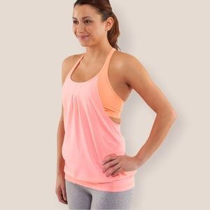 Lululemon    Bleached Coral Practice Freely tank